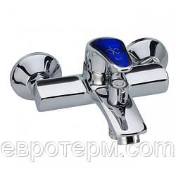 Смеситель для ванны короткий гусак с евро переключением Haiba Magic 009 Blue