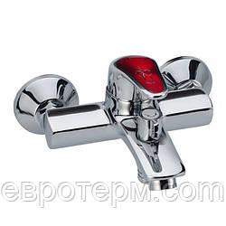 Смеситель для ванны короткий гусак с евро переключением Haiba Magic 009 Red