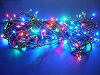 Гирлянда светодиодная новогодняя 100 led мульти черный провод