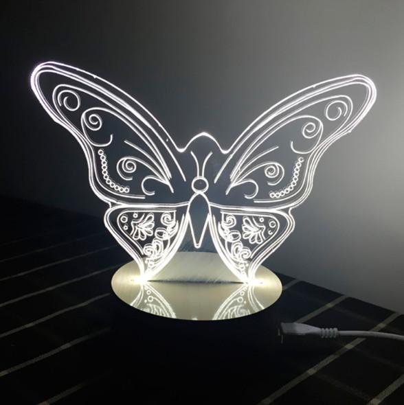 3D Світильник у вигляді Метелика.