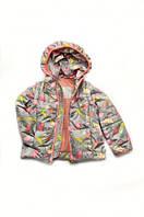 """Куртка-жилет (трансформер) для девочки """"Зонтики"""", фото 1"""