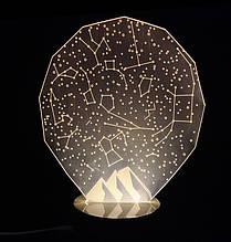 3D Светильник в виде Звездного неба.