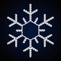 Новорічне освітлення світлодіодна сніжинка SN-0.8x0.8