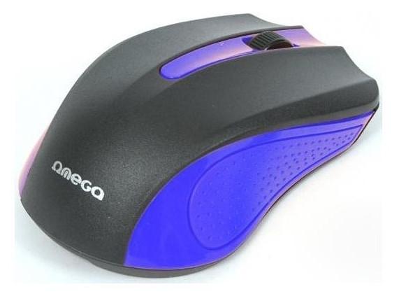 Мышь компьютерная Omega OM-05BL optical Blue blister
