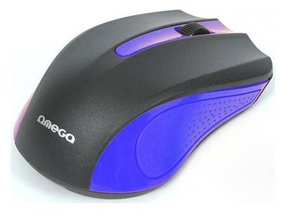 Мышь компьютерная Omega OM-05BL optical Blue blister, фото 2