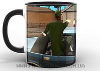 Кружка ГТА GTA перестрелка черная