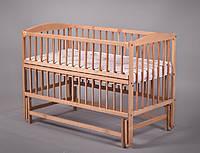 Детская кроватка Дубок (маятник, откидной бок, натуральный цвет)