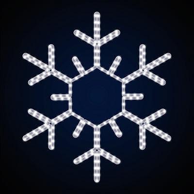 новый год украшение светодиодная снежинка