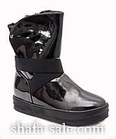 Ботинки женские лаковые зима