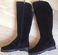 LISA!  женские зимние высокие замшевые сапоги мех ботинки