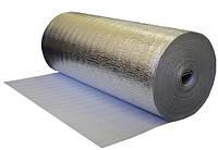 Рулонный утеплитель (подложка) фольгированная, толщина - 2 мм, длина - 50 метров, ширина - 1 метр