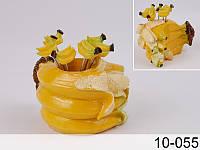"""Набор вилочек (шпажек) для канапе """"Банан"""" 6 шт на подставке 8Х7Х9 см 10-055"""