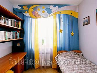 Комплект штор с ламбрекеном для детской