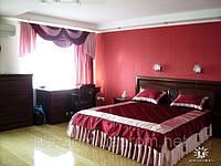 Комплект для спальни покрывало и ламбрекен