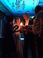 Набор резных свечей, семейный очаг. Фото наших свечей с церемонии. 1