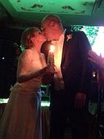 Набор резных свечей, семейный очаг. Фото наших свечей с церемонии. 2
