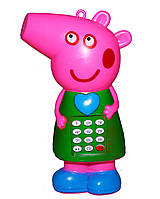 """Телефон игрушечный """"Свинка"""" со звуковыми эффектами"""