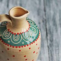 Кувшин керамический росписной