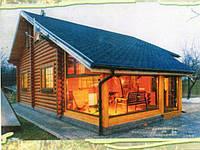 Деревянный дом из д-образного деревянного бруса.120кв. м