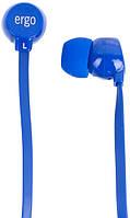 Наушники Ergo VT-901 синие плоский провод