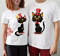 """Парные футболки """"Коты"""""""