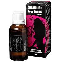 Возбудитель женский капли SPANISH LOVE DROPS FOR HER 30ml