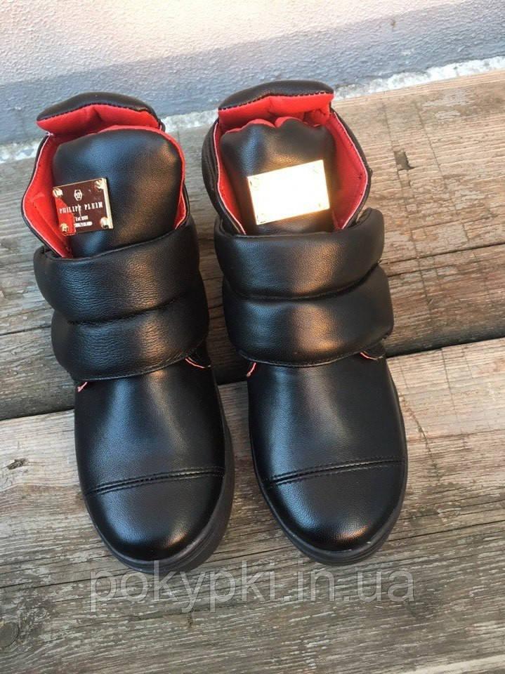 d195346eb Крутые зимние женские ботинки на липучках кожаные, модная женская зимняя  обувь