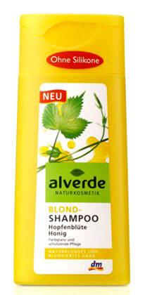 Шампунь для светлых волос хмель и цветочный мед Alverde 200мл, фото 2