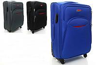 Чемодан дорожный среднего размера бизнес класс на 4-х колесах фирмы Suitcase