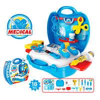 Доктор 8355 (36шт) 18 предметов, в чемодане, 22-22-10см