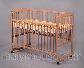 Ліжечко для новонароджених з натурального дерева тм Дубок
