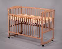 Кроватка для новорожденных из натурального дерева тм Дубок
