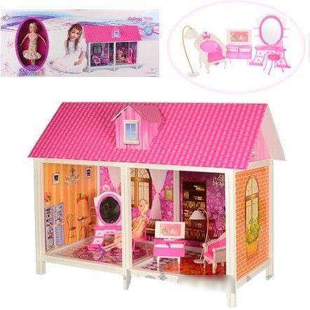 Кукольный дом 66882 с куклой и мебелью