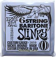 Струны Ernie Ball 2839 Baritone 6 string Slinky 13-72