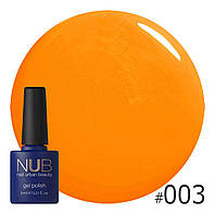 Гель-лак NUB № 003 Hot Fruit, 8 мл