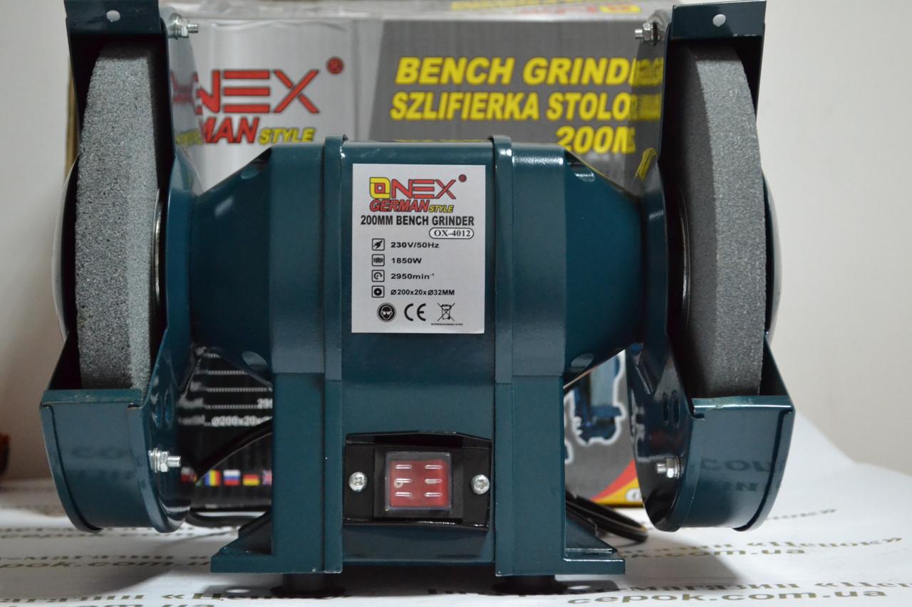 Точильний верстат ONEX OX-4012, 200мм