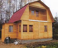 Деревянный дом каркасного типа 6х8