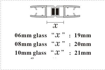 Магнитный стык стеклянных дверей