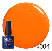 Гель-лак NUB № 004 Summer Sunlight, 8 мл
