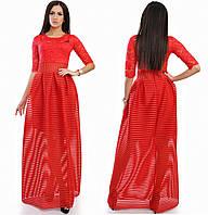 Платье в пол верх гипюр 16/03380