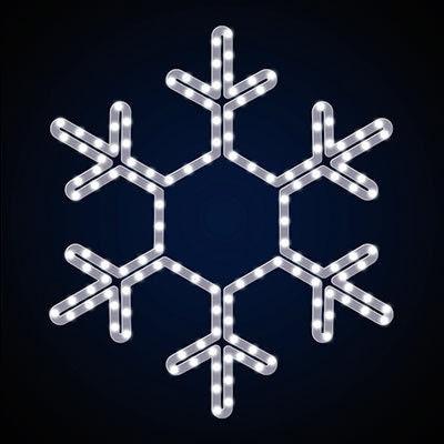 Снежинки Новогоднее украшение SN-0.45x0.45.  Световое украшение. LED гирлянда. Новогодняя гирлянда.