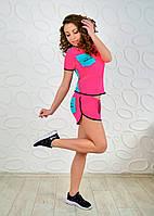 Спортивний літній костюм (Спортивный костюм футболка и шорты в стиле reebok), фото 1