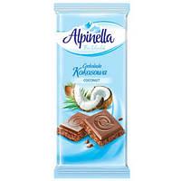 Шоколад Alpinella Kokosowa молочный с кокосом 90гр. Польша