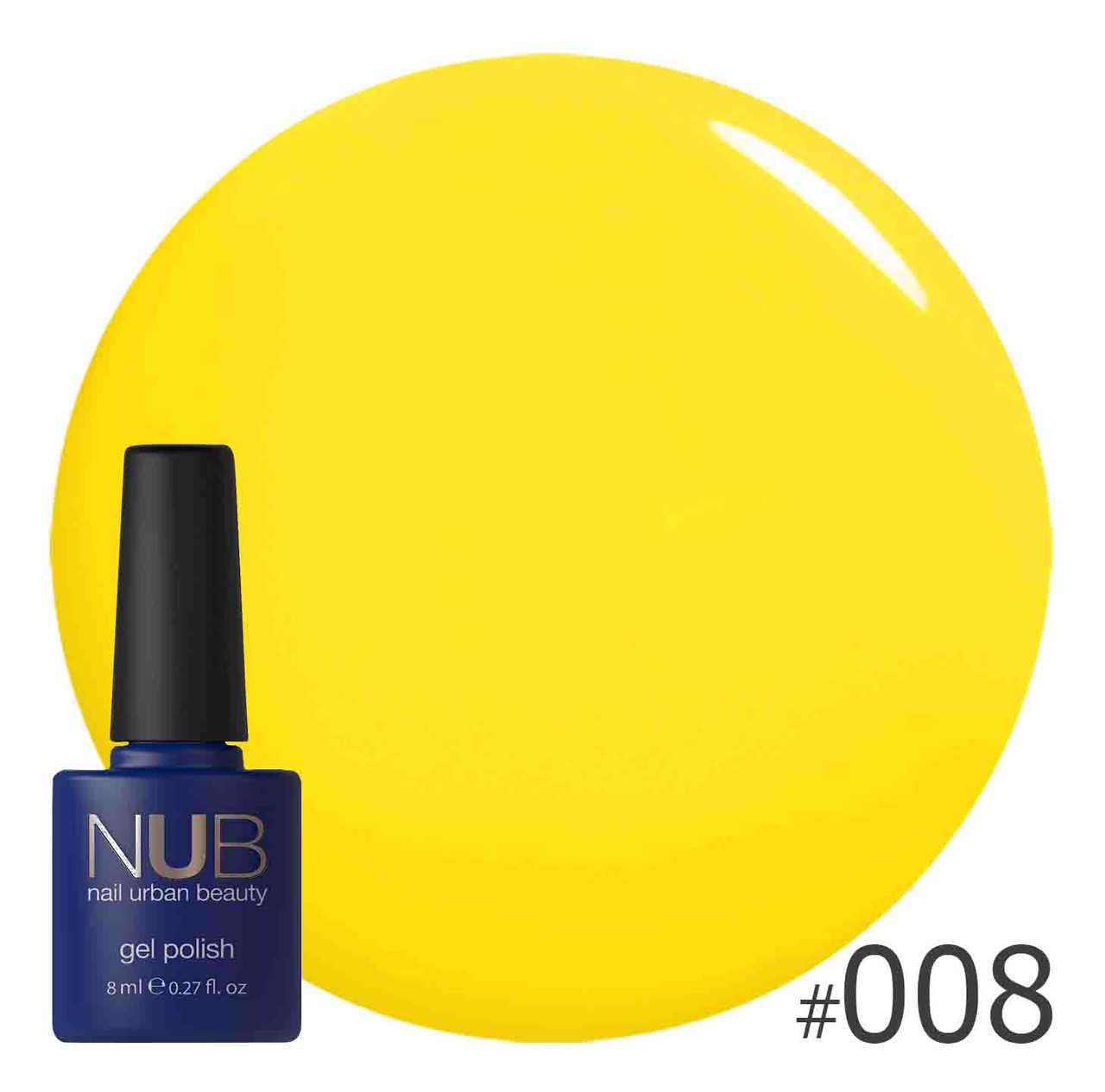 Гель-лак NUB № 008 Sun Sun Sun, 8 мл