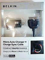 Зарядное устройство автомобильное Belkin iPhone 4/4s (блочек+кабель)