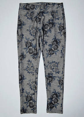 Лосины джинс цветы 116, 128, 152, 158