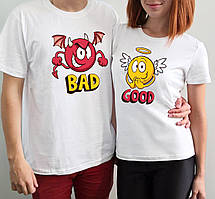 """Парные футболки """"Смайлы"""""""