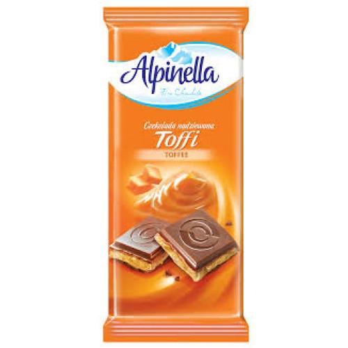 Шоколад Alpinella Toffi молочный тоффи 90гр. Польша