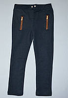Синие брюки трикотаж джинс 104, 116