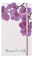 """Визитница на 120 визиток """"Because I am а lady"""" (Орхидея) 200104"""